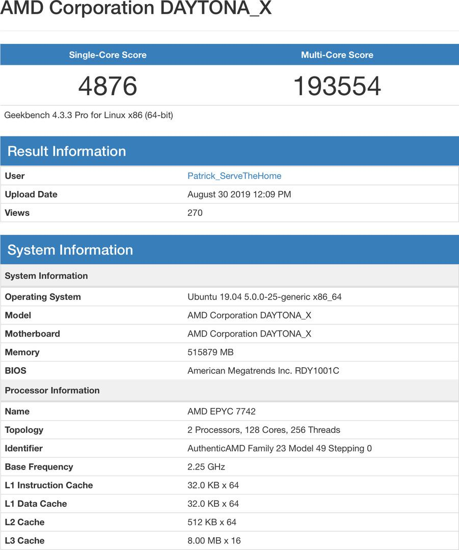 AMD Epyc chips beat Intel Xeon in Geekbench for price 25% of