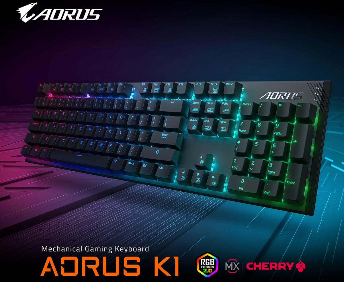 Gigabyte Outs Aorus K1 Mechanical Gaming Keyboard