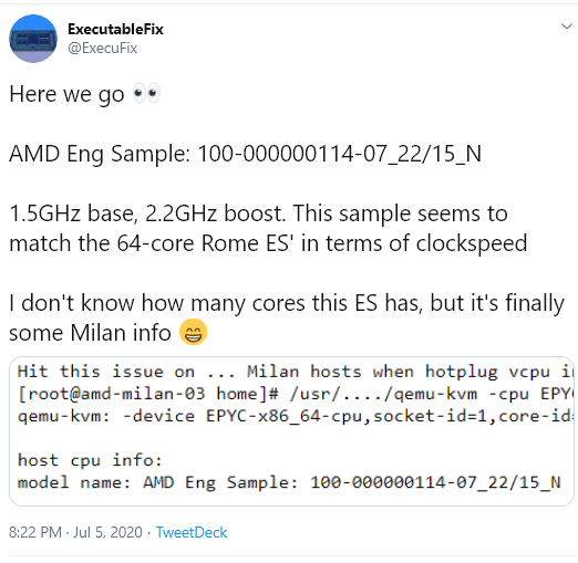 Amd Epyc Milan Zen3 Generation Cpu Surfaces In Linux Reference