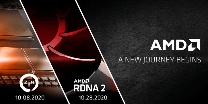 Amd Starts Zen3 Announcement Event On October 8th Radeon Rx 6000 Rdna2 Event October 28th