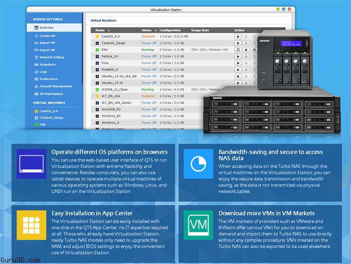 QNAP Virtualization Station Enabling Running Multiple OS on Turbo NAS