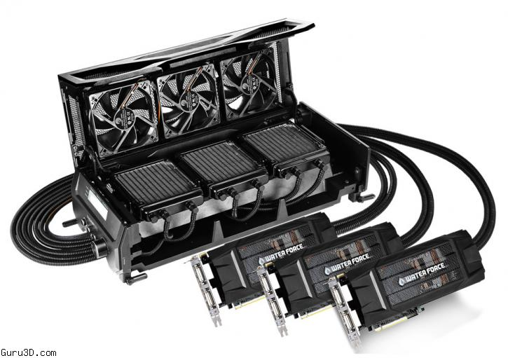 Gigabyte Shows GeForce GTX 980 WaterForce 3-way SLI