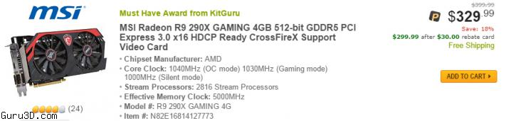 Nvidia users walk to AMD R9 290X - offered at 279 USD Now !