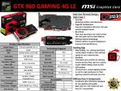MSI also Releases GeForce GTX 960 and 970 Gaming (LE) cards