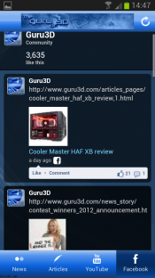 Guru3D Android App available for download