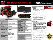MSI offers LIGHT edition of Radeon R9 Gaming 380 and 390
