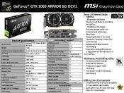 MSI releases its GTX 1060 ARMOR 6G OC
