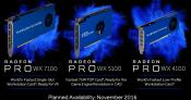 AMD Announces Radeon Pro WX4100, WX5100 and WX7100 Graphics Cards