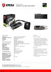 Photos and Specifications MSI GTX GeForce 1080 Ti and 1080 Ti X Sea Hawk