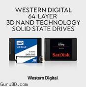 Western Digital Intros Client SSDs with Its 64-Layer 3D NAND