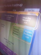 Intel roadmap shows Haswell-E, Haswell Refresh and Skylake