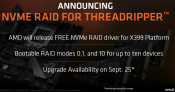 AMD to Release NVMe RAID Support for X399 September 25th