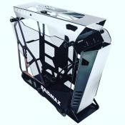 Raidmax X08 Open Chassis has aluminium chassis and Dual Tempered Glass