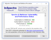 Download: inSpectre Meltdown and Spectre Check tool for Windows