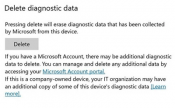 Microsoft to introduce option to delete collected diagnostic data