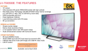 Sharp launches its first 70inch TV with 8K panel: LV-70X500E