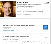 AMD's Chris Hook Confirmed Moving To Intel