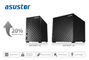 ASUSTOR releases v2 versions of the AS1002T and AS1004T