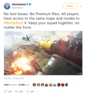 Battlefield V Will be Free from loot boxes or Premium Passes