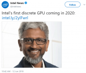 Intel confirms it will release their first high-end GPU in 2020