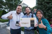 NVIDIA CEO Hands out Special CEO Edition Titan V GPUs to AI Researchers