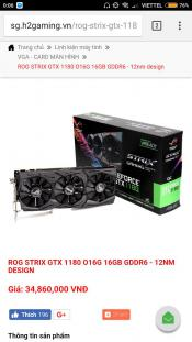 Vietnamese store put up preorder for ASUS ROG STRIX 1180