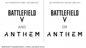 NVIDIA to offer Battlefield V and/or Anthem Game Bundles with RTX series