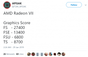 AMD Radeon VII 3DMark results Surface