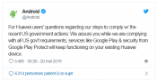 Google To End Cooperation With Huawei, Intel Qualcomm and Microsoft join.