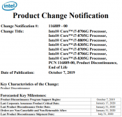 Intel Ends Kaby Lake Processors - all of them (updated)