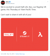 A Confirms new Half-Life -  but only or VR? Half-Life: Alyx