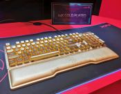 ADATA Offers 24 carat gold plated gaming keyboard for $10,000