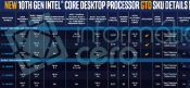 Specifications Intel KF and F line for the tenth generation - Intel Core i9-10900KF
