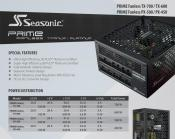Seasonic Offers Three new Titanium Certified PSUs that are Fanless
