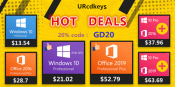 Advertorial: Windows 10 Pro OEM Key (2 PC) for 20$ on URcdkeys.com