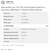 AMD Ryzen 7 Extreme Edition Spotted - 8 cores - 4.3 GHz - 15 Watts Ultra-portable?