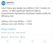 New AMD Agesa Combo V2 1.0.8.1 update potentially improves latencies between CPU cores