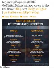 Battlefield 4 official PC System Requirements