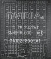 NVIDIA RTX 3090 GA102-300 GPU Photographed in detail by consumer