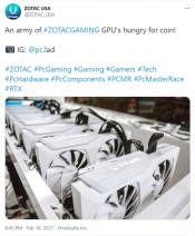 ZOTAC enrages PC gamers by promoting GeForce RTX as mining GPUs