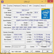 Intel Devil's Canyon and Pentium 20th Anniversary Series CPU-Z  Specs