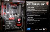 MSI Adds X99S Gaming 9 ACK Motherboard