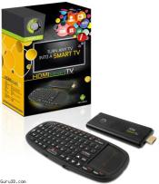 Point of View Dual Core HDMI Dongle with Android 4.1 and Wireless Keyboard.