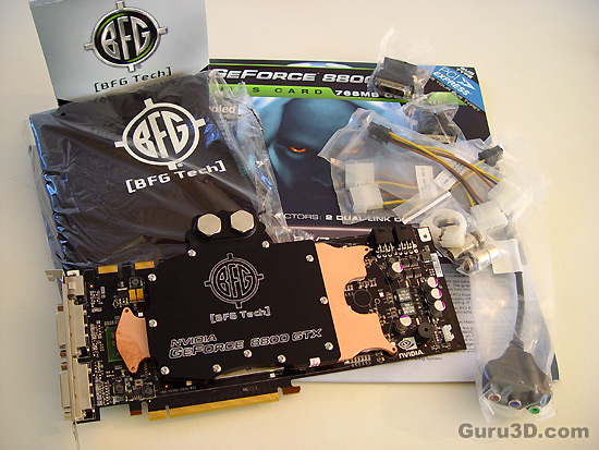 BFG GeForce 8800 GTX 768MB Water Cooled Edition SLI review