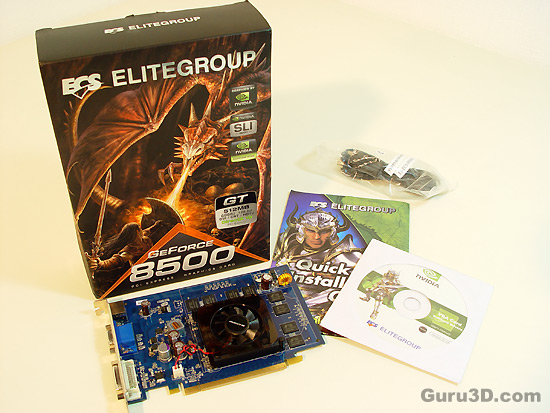 ECS GeForce 8500 GT 512MB