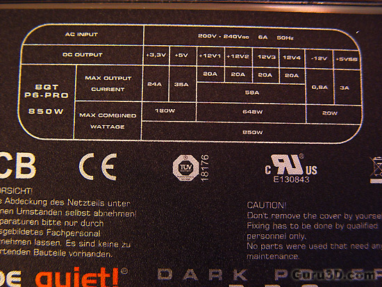BeQuiet Dark Power PRO 850 Watt PSU review