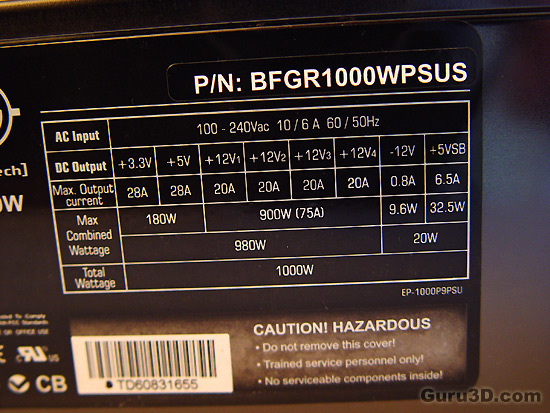 BFG 1000 Watt Power Supply review - Page 4