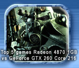 4870 1GB vs GTX 260 core 216 with Top 5 games