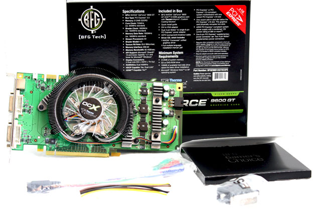 BFG GeForce 8800 GT and 9600 GT OCX models
