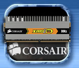 Corsair 4GB DDR2 800 CAS4 twin2x4096 6400c4dhx memory kit